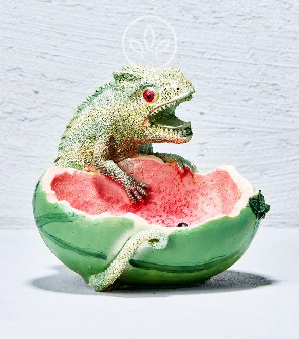 Polyserin Aschenbecher Chamaeleon Melone