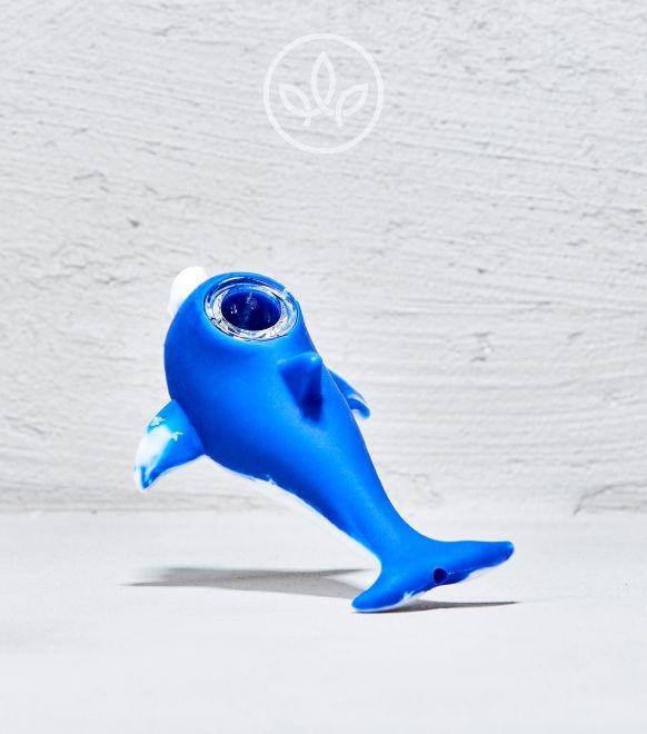 BHO Silikonpfeife Delfin, Blau