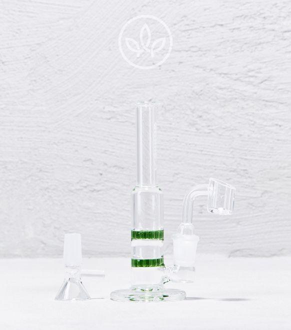 Mini Glas Honeycomb Bong 15cm