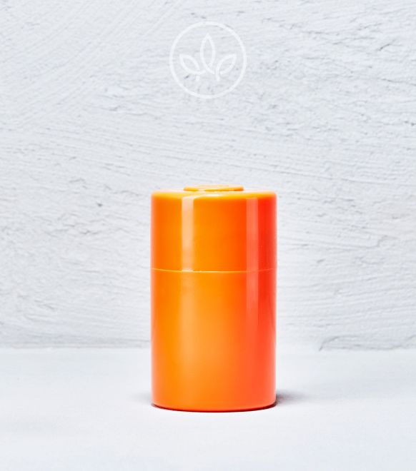 Vakuum Cannabis Aufbewahrung Plastik, Orange