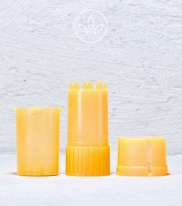 Plastik Grinder mit Aufbewahrung XL, Orange