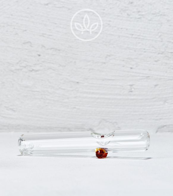 Glaspfeife Rohr, Orange