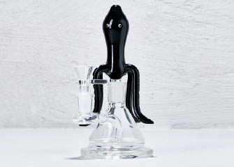 Bong Zehra glas schwarz